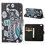 Mandala Color Elephant Pattern PU Leather Full Body Cover with Stand for iPhone 5/iPhone 5s