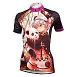 ilpaladinoSport Women Short Sleeve Cycling Jersey New Style Distinctive  DX587  panda 100% Polyester