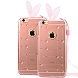 High Quality Transparent with Raindrop Pattern Cover for iPhone 6 (Assorted Colors)