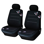AUTOYOUTH Pair Bucket Butterfly Embroidered Car Seat Cover Universal Fit Most Car Covers Accessories Seat Covers