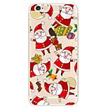 Christmas White Beard Pattern TPU Soft Phone Case iPhone 6/6S