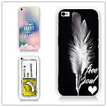 Feather Letter Pattern PC Phone Case Back Cover Case for iPhone6