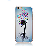 Beautiful tree Style Transparent Soft TPU Back Cover for iPhone 6/6S