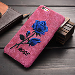 The New Hand-Embroidered Rose Pattern Super Soft Homespun PC Phone Case for iPhone 6/6S (Assorted Colors)