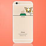 perro come manzana insignia modelo estuche blando de TPU transparente para el iphone 6