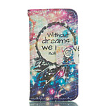 Meteor Bells Pattern and Lovers PU Full Body Case with Card Slot and Stand for iPhone 5C