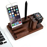 Apple Watch and IPhone Multifunction  Charging Wooden Stand  Holder Keeper  Wireless Charging Stand