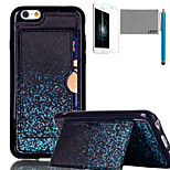 LEXY® Blue Firefly Pattern Soft TPU Back Case with Screen Protector and Stylus for iPhone 6/6S