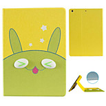 Green Come Unstuck  Pattern Stereo Eye Stent Case for iPad Air