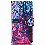 Finger Buckle Tree Painted PU Phone Case for iphone 6/6S