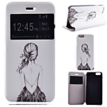 Figure Girl Pattern PU Leather Full Body Cover with Stand for iPhone 6/iPhone 6S