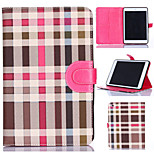 Grid Pattern PU Leather Full Body Tablet Protective Case with Stand and Card Slot for iPad Mini 3/2/1