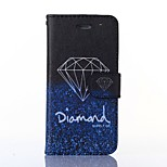 Diamonds Pattern Card Stand Leather Case for iPhone 6/6S