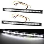 2 x 12 LED DRL Car Truck Day Daytime Running Turn Signal Light Lamp 12V