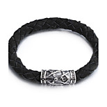 Vintage Braided Leather Bracelets Fashion 316L Stainless Steel Clasp Mens Bracelets Whloesale Jewelry Party Gift