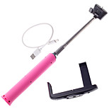 Wireless Bluetooth Self Portrait Monopod Adjustable Stick Pole For Iphone Andriod Mobie Phones Silicone