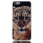 Tiger Pattern Blu-ray TPU Soft Back Cover Case for  iPhone 6/6S