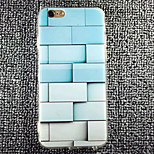 MAYCARI® Blue Brick  Wall Pattern Silicone Rubber Edge Back Case for iPhone 6/6S