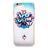 Butterfly Balloon Pattern Transparent PC Back Cover for iPhone 6