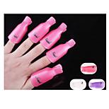 10PCS Plastic Nail Art Soak Off  Nail Clip Resurrection Tool  Random Color