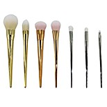 2015 brand 7 pcs RT Professional Makeup Brushes Bold Metals Collection R T Kabuki Brush Kit