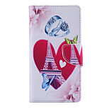 Love Tower PU Leather Full Body Cover with Stand for Sony Xperia M4 Aqua
