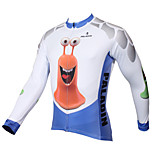 PaladinSport Men's Long Sleeve Cycling Jersey New Style CX397 Snail 100% Polyester