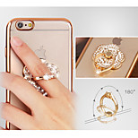 The New Diamond Ring Buckle Bracket Shell Metal Petals for iPhone6/iPhone 6s(Assorted Colors)
