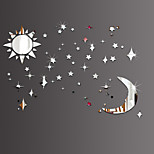 Sun Moon Stars DIY Mirror Acrylic Wall Stickers Wall Decals