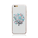 White tree Style Transparent Soft TPU Back Cover for iPhone 5/5S