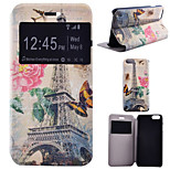 Flower Tower Pattern PU Leather Full Body Cover with Stand for iPhone 6/iPhone 6S