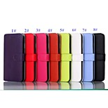 Pure and Noble Color High-quality PU Leather Full Body Case with Kickstand and Card Slots for Iphone 6