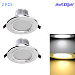 2 pcs YouOKLight 7 W 15 SMD 5630 700 LM Warm White / Cool White Decorative Recessed Lights AC 85-265 V