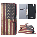 USA Flag Wallet Leather Stand Case for Acer Liquid Z630 Z630s (5.5 inch)
