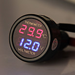 CARCHET Car Auto Cigarette Lighter with LED Panel Digital Voltmeter Thermometer