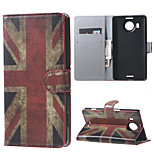 Vintage UK Flag Wallet PU Leather Stand Case for  Microsoft Nokia Lumia 950XL N950XL
