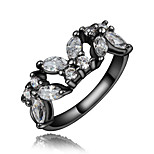 black color cool design Fashionable lady vintage daily band ring