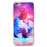 Colorful Sunset Pattern Transparent PC Back Cover for iPhone 6