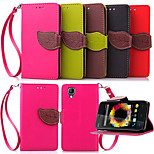 Luxury Leather Card Holder Stand Magnetic Phone Flip Cases Shell Leaf Wallet + Lanyard Cover For WIKO SUNSET