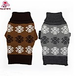 FUN OF PETS®Winter Classic Warm Snowflake Sweater Dogs Clothing for Pets Dogs (Assorted Sizes and Colours)