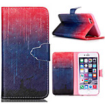 Embossed Coloured Drawing or Pattern PU Leather Case with Magnetic Snap and Card Slot for iPhone 6/6S