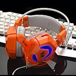 GS200 Computer Games E-sports Headset Headphones Internet Cafes, Heavy Bass Vibration Glow with Wheat Head Type