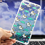 MAYCARI® The Unicorn Flying in the Sky Bling Quicksand Star Transparent PC Back Case for iPhone 6/iphone 6S
