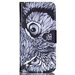 geschilderde uil pu portemonnee case voor iphone6 / 6s