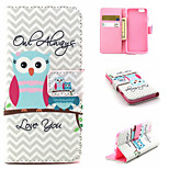 Couple Owl Pattern PU Leather phone Case For iPhone 6S/6