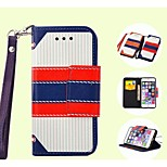stile britannico di alta qualità della copertura del cuoio dell'unità di elaborazione per iphone 5 / 5s / 5c (colori assortiti)