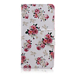 Pink Rose Pattern PU Leather Full Body Cover with Stand for Sony Z5