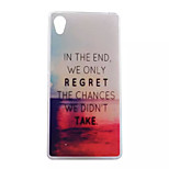 We Don't Give Up Pattern Transparent TPU Soft Case for Sony Xperia M4 Aqua