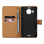 Solid color Light Surface Pattern PU Leather Flip Case with Magnetic Snap and Card Slot for Microsoft Lumia 950 XL
