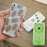 MAYCARI®National Patterns Transparent TPU Back Case for iPhone 5/iphone 5s